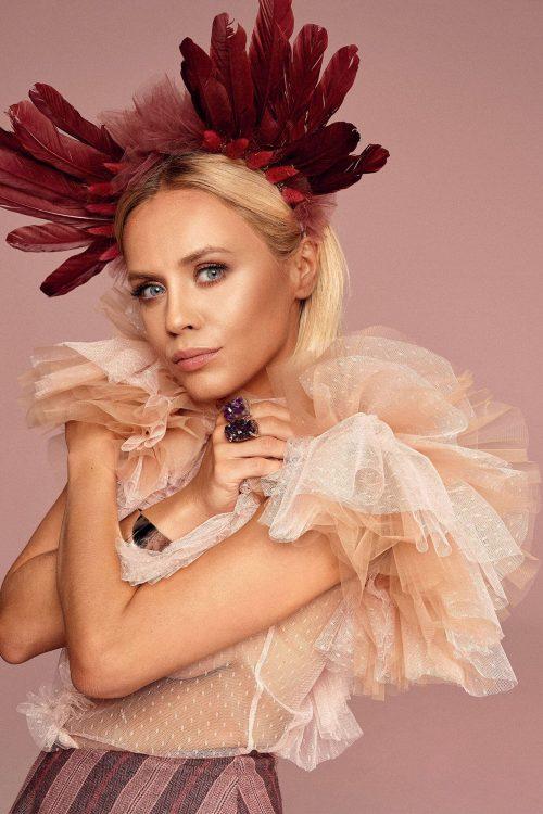 Bluzeczka z pudroworóżowej koronki no. 10 Haute Couture collection Haute Couture 10