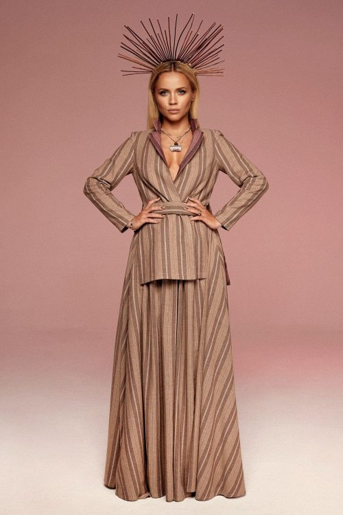 Long jacket with slits no. 13 Haute Couture collection Haute Couture 13