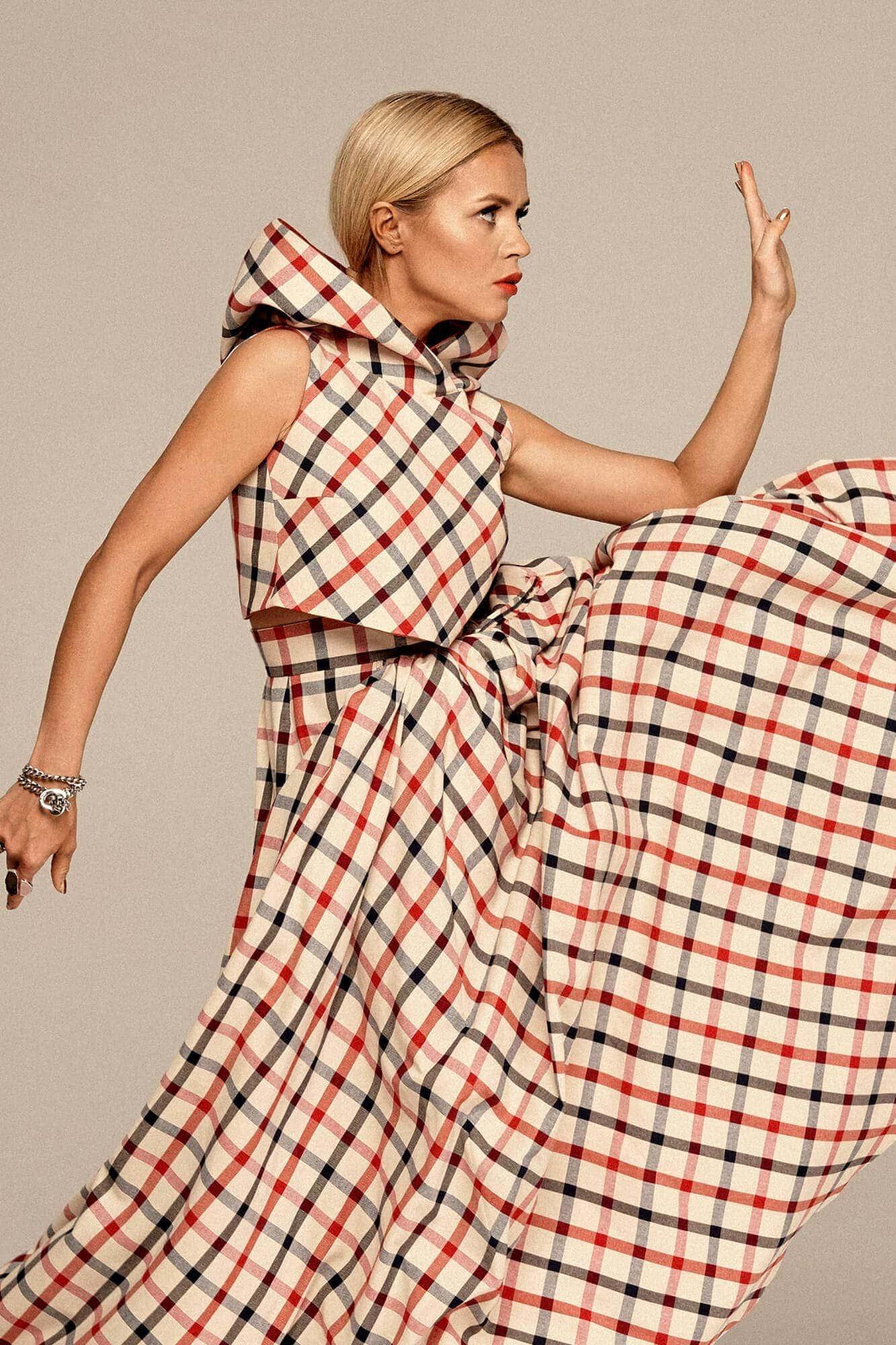 Short plaid top no. 6 Haute Couture collection Haute Couture 6