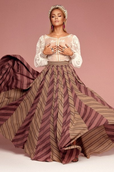Maxi gored skirt no. 9 Haute Couture collection Haute Couture 9