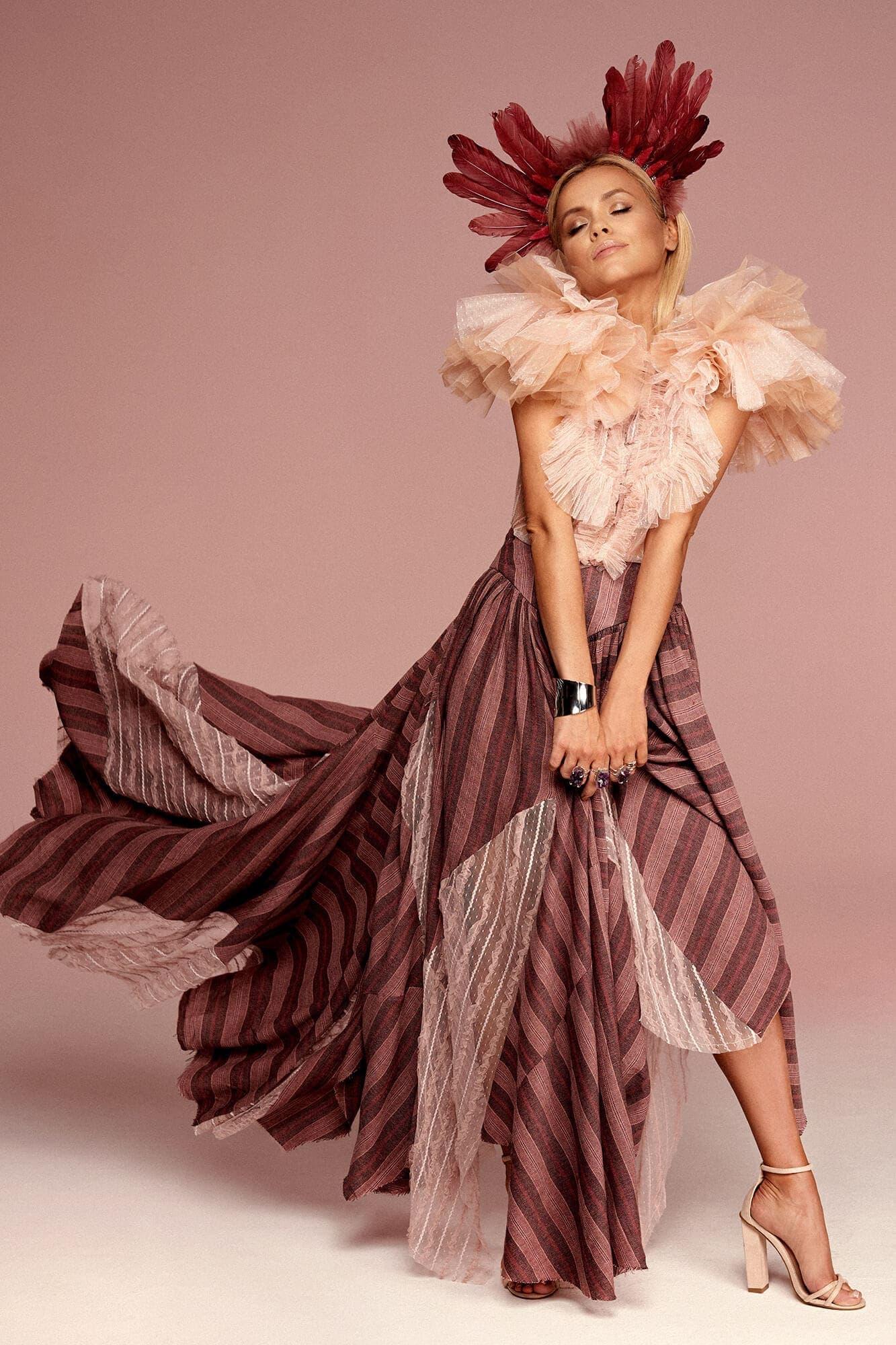 Spódnica w odcieniach różu no. 11 Haute Couture collection Haute Couture 11