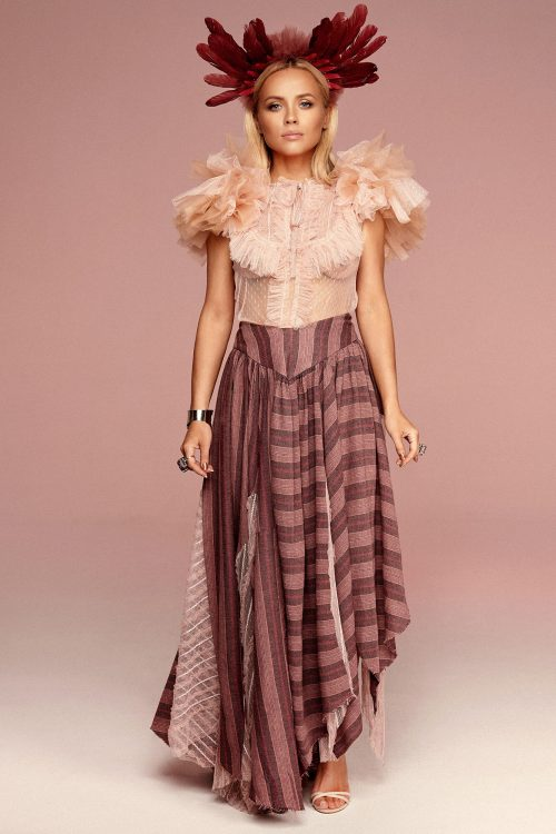 Skirt in shades of pink no. 11 Haute Couture collection Haute Couture 11