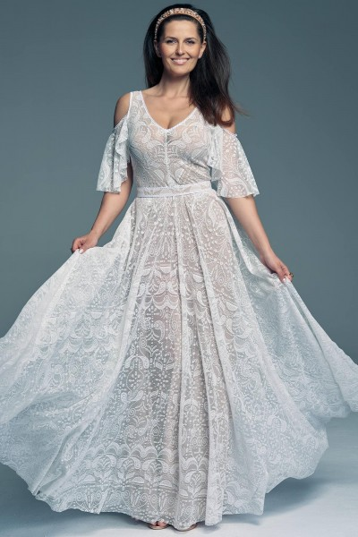 Wedding dress in Spanish style with sleeves Porto 57
