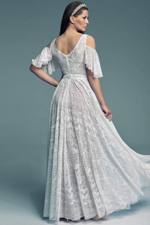 Suknia ślubna w stylu hiszpańskim z rękawami Porto 57