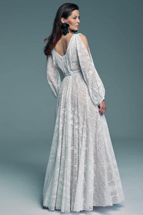 Suknia ślubna dla panny młodej która nie chce obcisłych rękawów Porto 56