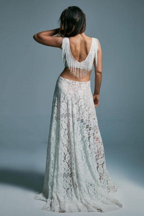Jedyna w swoim rodzaju, ekstrawagancka suknia ślubna. Porto 43