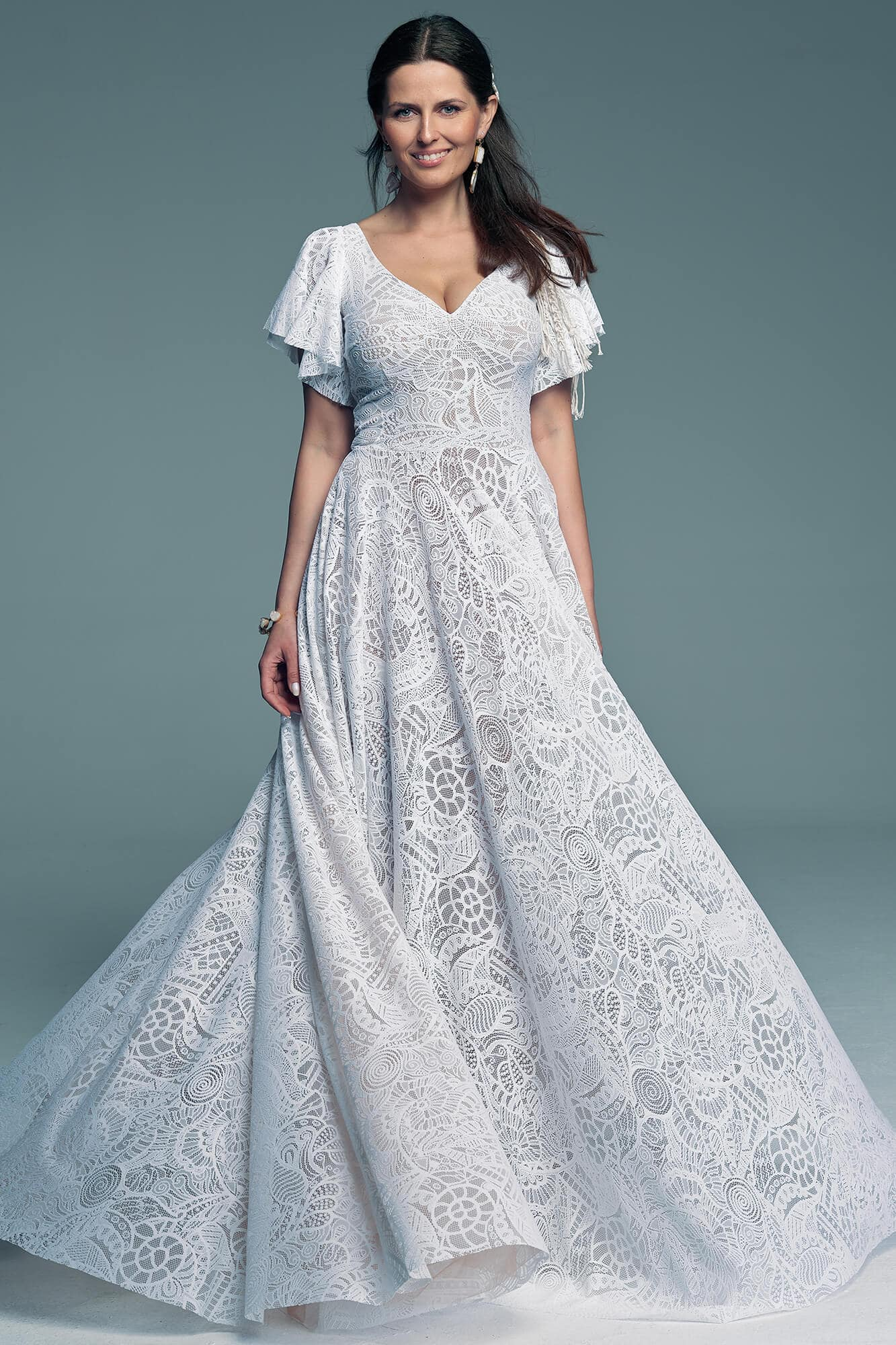 Elegant, comfortable and simple wedding dress Santorini 11