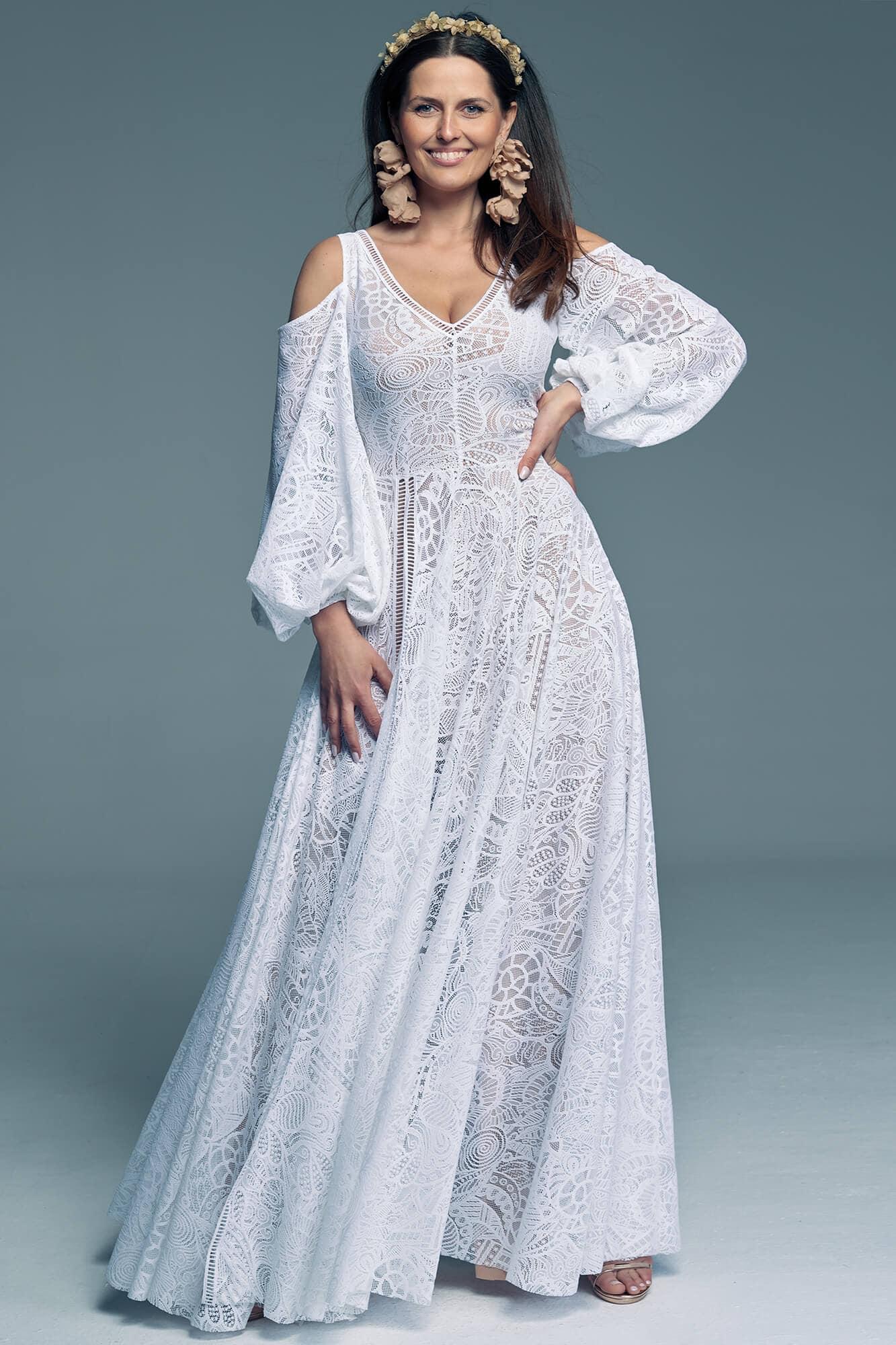Najpiękniejsza i oryginalna suknia ślubna Santorini 13
