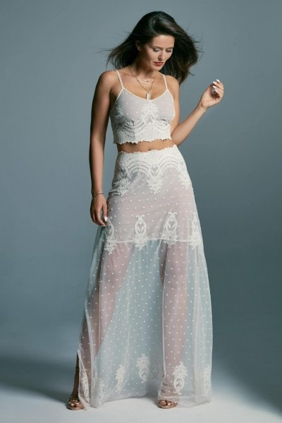 Original, two-piece wedding dress, delicate as a mist Barcelona 7