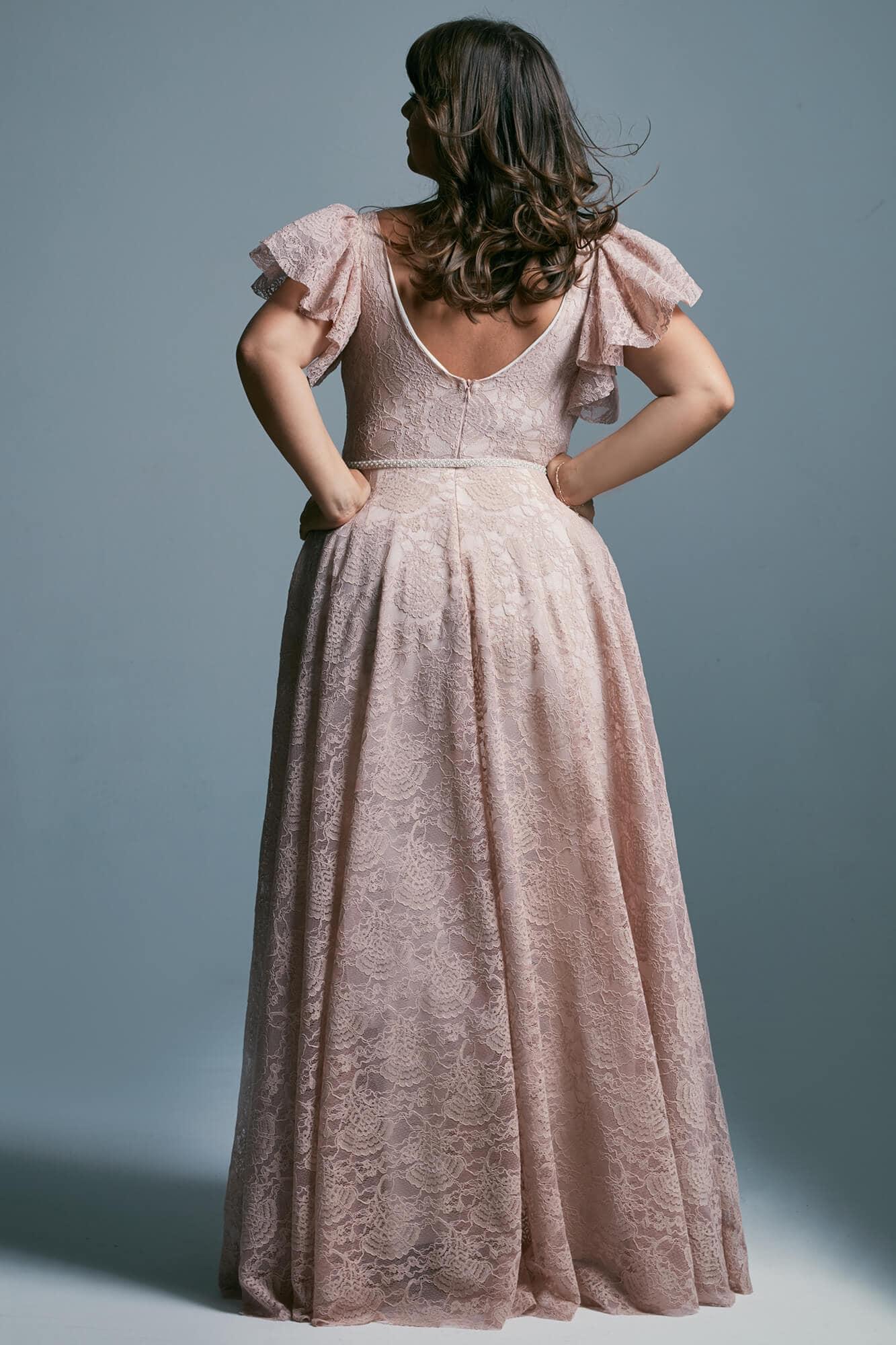 Princess dress - plus size pink wedding dress Venezia 4 plus size