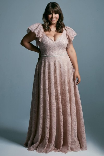 Princess dress - plus size pink wedding dress Venezia 4 plus size