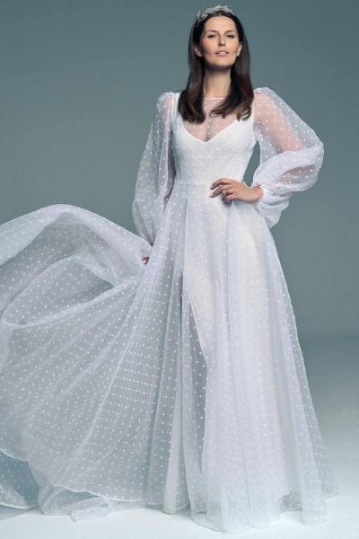 Oryginalna suknia ślubna w kropki Barcelona 24