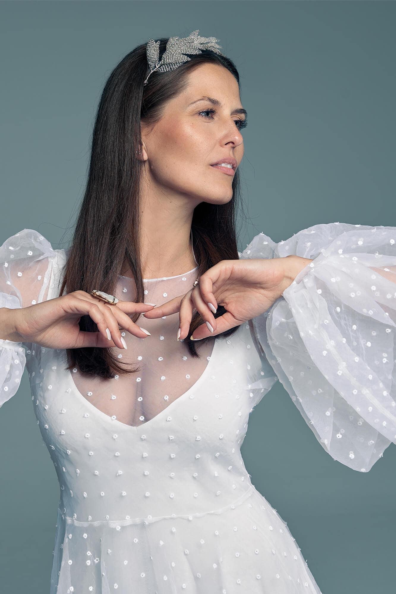Original polka-dot wedding dress Barcelona 24