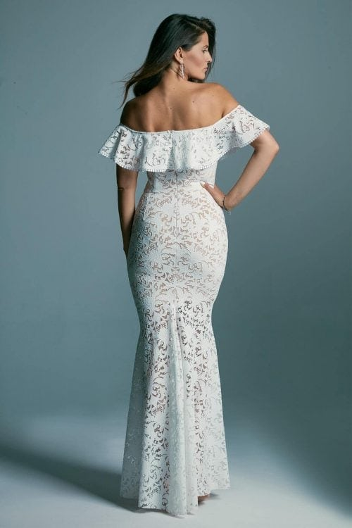 Spanish-style mermaid wedding dress Santorini 6