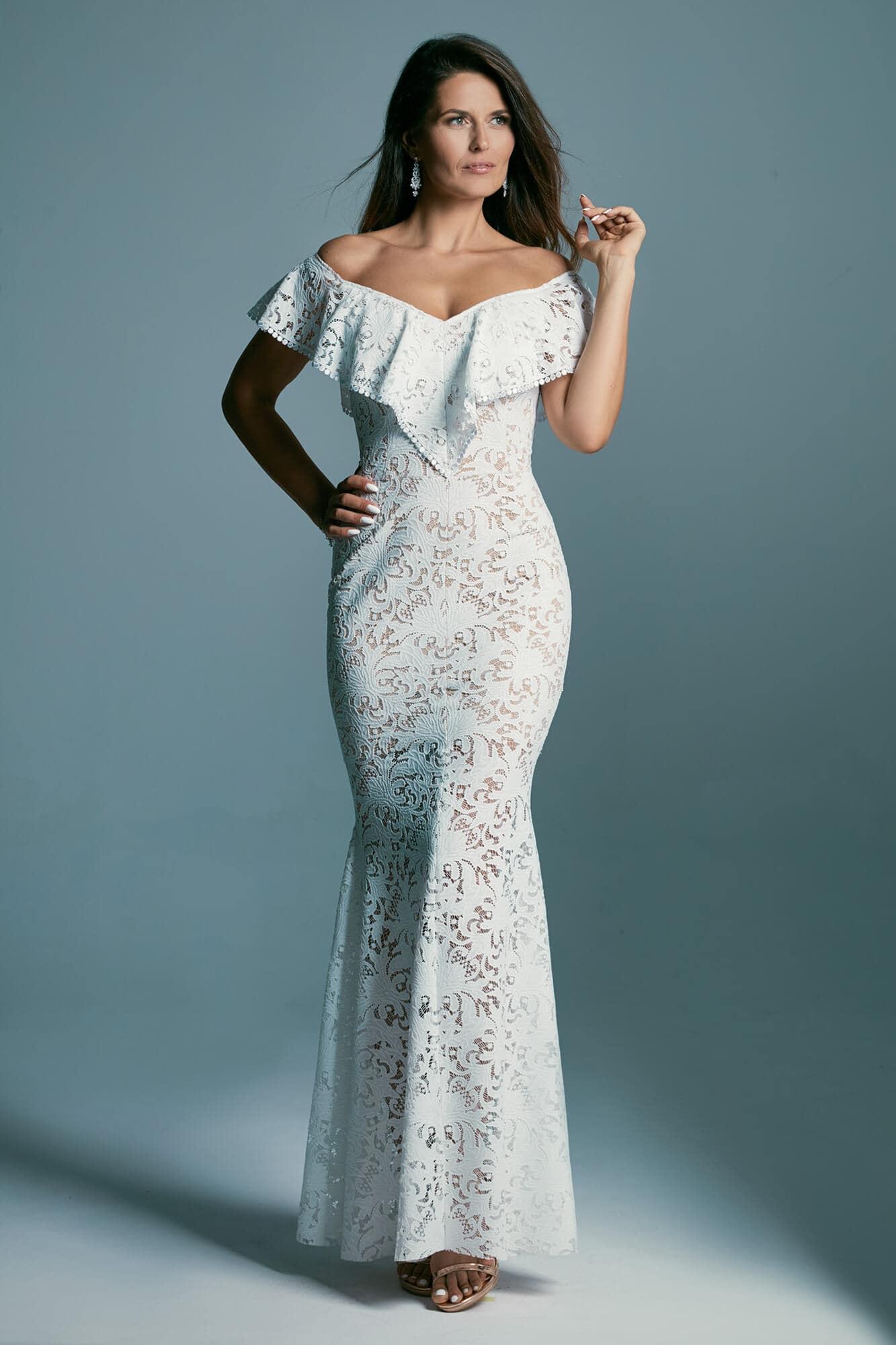 Suknia ślubna o kroju syreny w stylu hiszpańskim Santorini 6